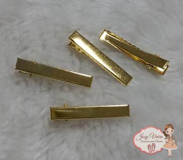Bico de Pato Dourado Quadrado 4,5cm (10 Unidades)