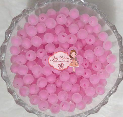 Bola com Miolo Pink 8mm Furo Passante 100g