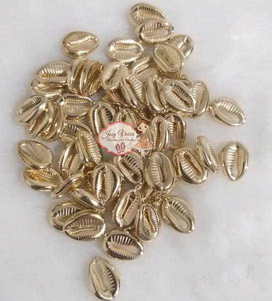 Búzios Dourado 13mm 100 unidades
