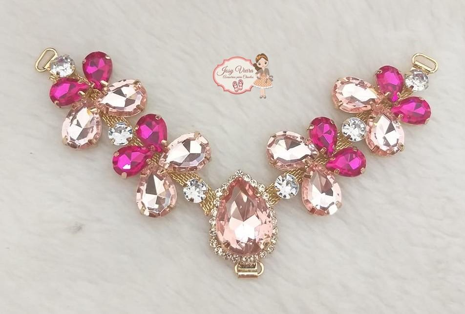 Cabedal Borboleta Rosa com Pink (Par)