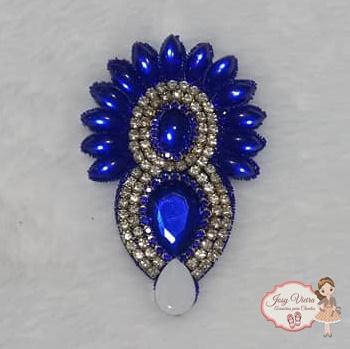 Cabedal Cocar Azul escuro (Par)