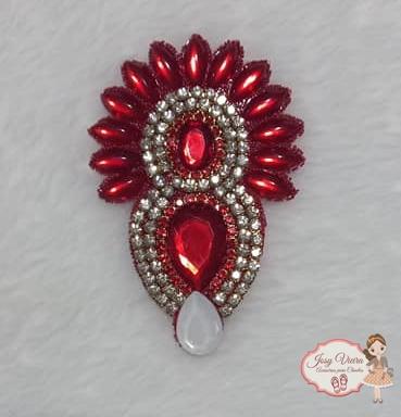 Cabedal Cocar Vermelho (Par)