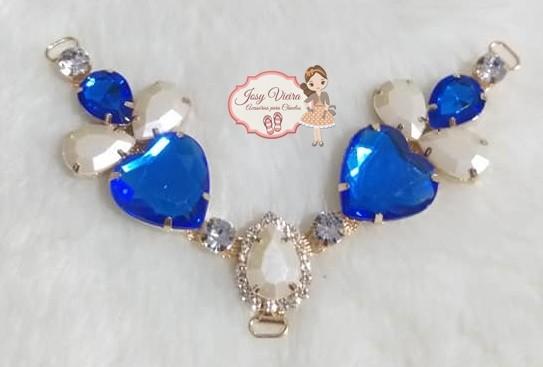 Cabedal PEDRARIA Coração Azul(Par)