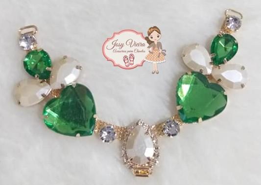 Cabedal PEDRARIA Coração verde(Par)