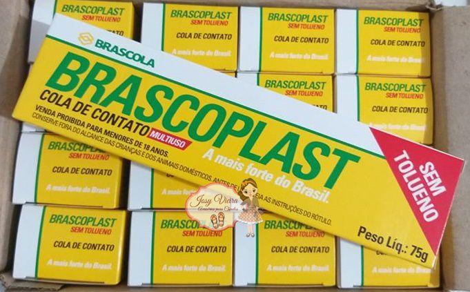 Caixa 16 Colas Brascoplast SEM TOLUENO 75g cada