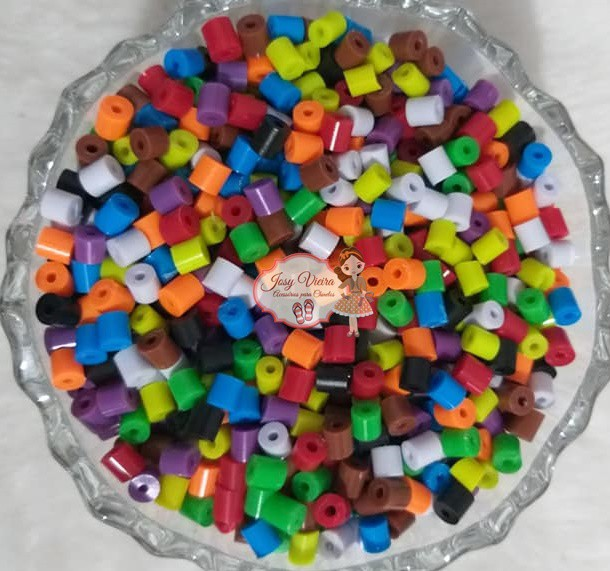 Canudo leitoso Colorido 5x5mm 100g