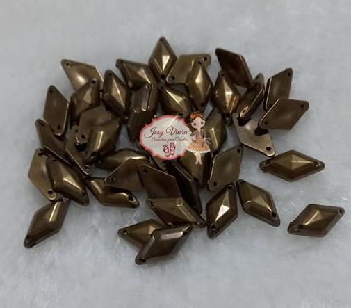 Chaton de costura Losango Ouro Velho 9x15 100g