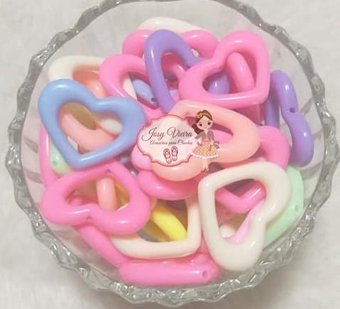 Coração leitoso passante G colorido 100g