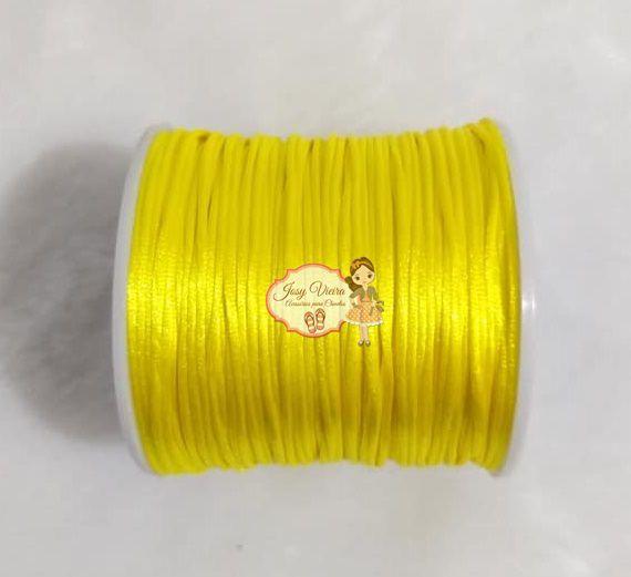 Cordão de Cetim 1mm AMARELO Cor 106 100m