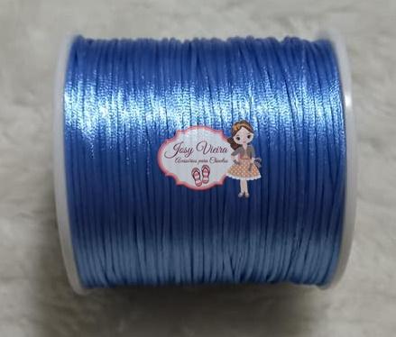 Cordão rabo de rato 1mm Azul Cor 182 100m