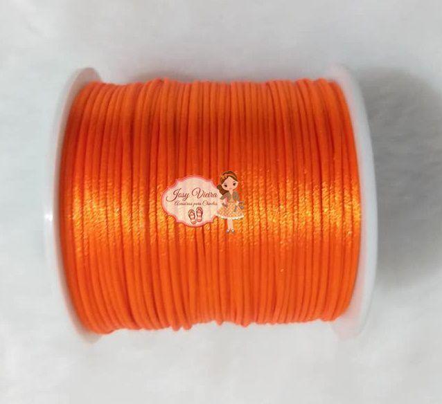 Cordão de Cetim 1mm LARANJA Cor 523 100m