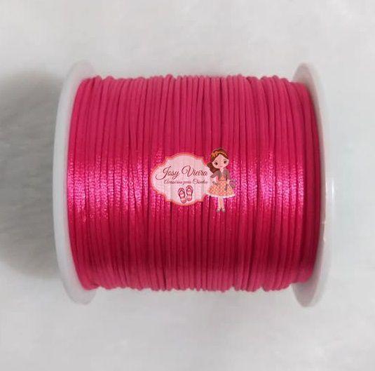 Cordão de Cetim 1mm PINK Cor 312 100m