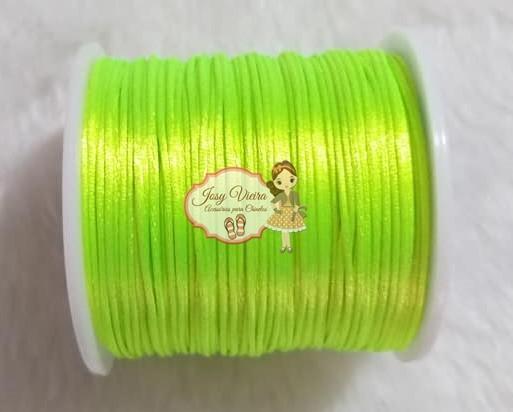 Cordão de Cetim 1mm Verde Limão Novo Cor 02 100m