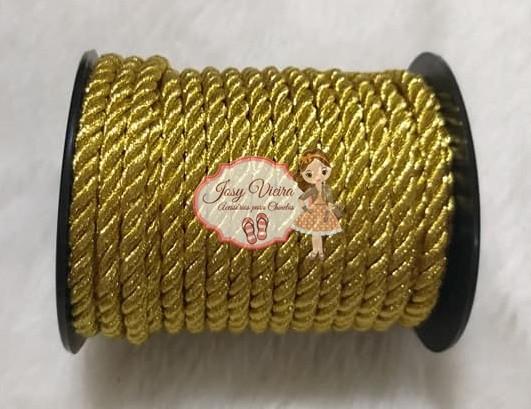 Cordão de São Francisco Dourado 6mm com 10 Metros