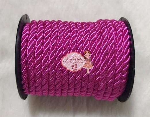 Cordão de São Francisco Pink 6mm com 10 Metros