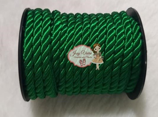 Cordão de São Francisco Verde 6mm com 10 Metros