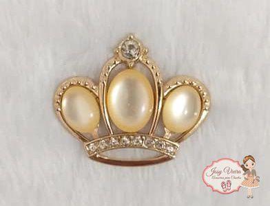 Coroa Madre Pérola Dourada (Par)