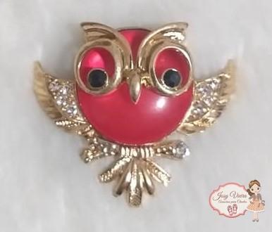 Coruja Dourada com Vermelha(Par)