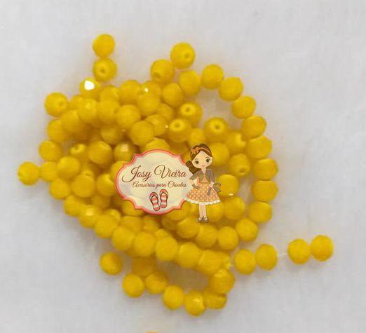 Cristais Cor Amarelo Ouro Tam 6 (apx 90 unidades)