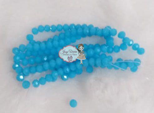 Cristais Cor Azul Claro Tam 4 (apx 100 unidades)