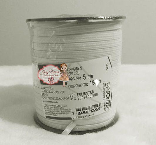 Elástico Branco 5 mm 10 metros