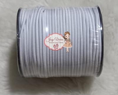Elástico roliço Branco 2.2mm com 50 metros