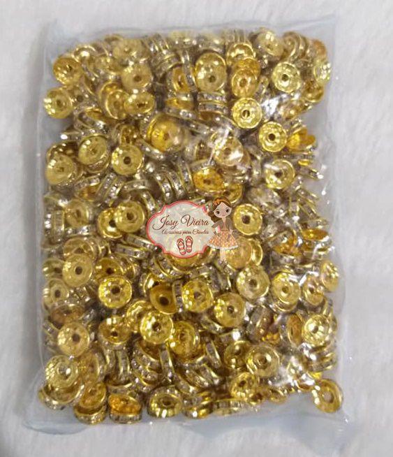 Entremeio Dourado 10mm 500 peças