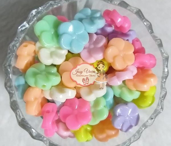 Entremeio Flor 8x19 cores variadas 100g