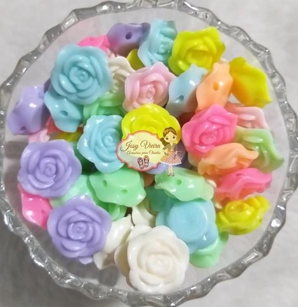 Entremeio Flor Colores variadas 19mm 500g