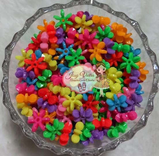 Entremeio flor fina 12mm colorido escuro 100g