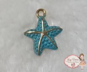 Estrela dourada com Tiffany(1 unidade)