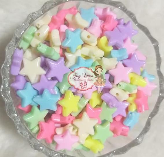 Estrela Leitosa passante P colorida  100g