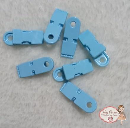 Fecho crachá Azul BB de plástico( 10 Unidades)