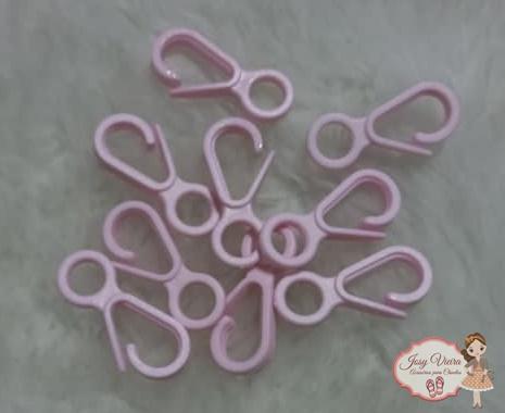 Fecho de plástico Rosa (10 unidades)