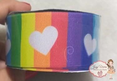Fita GORGURÃO Newz Color com coração Rolo 10mx38mm