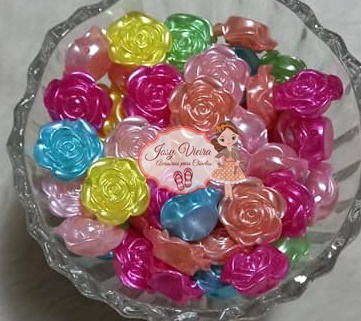 Flor passante colorida 16mm 100g