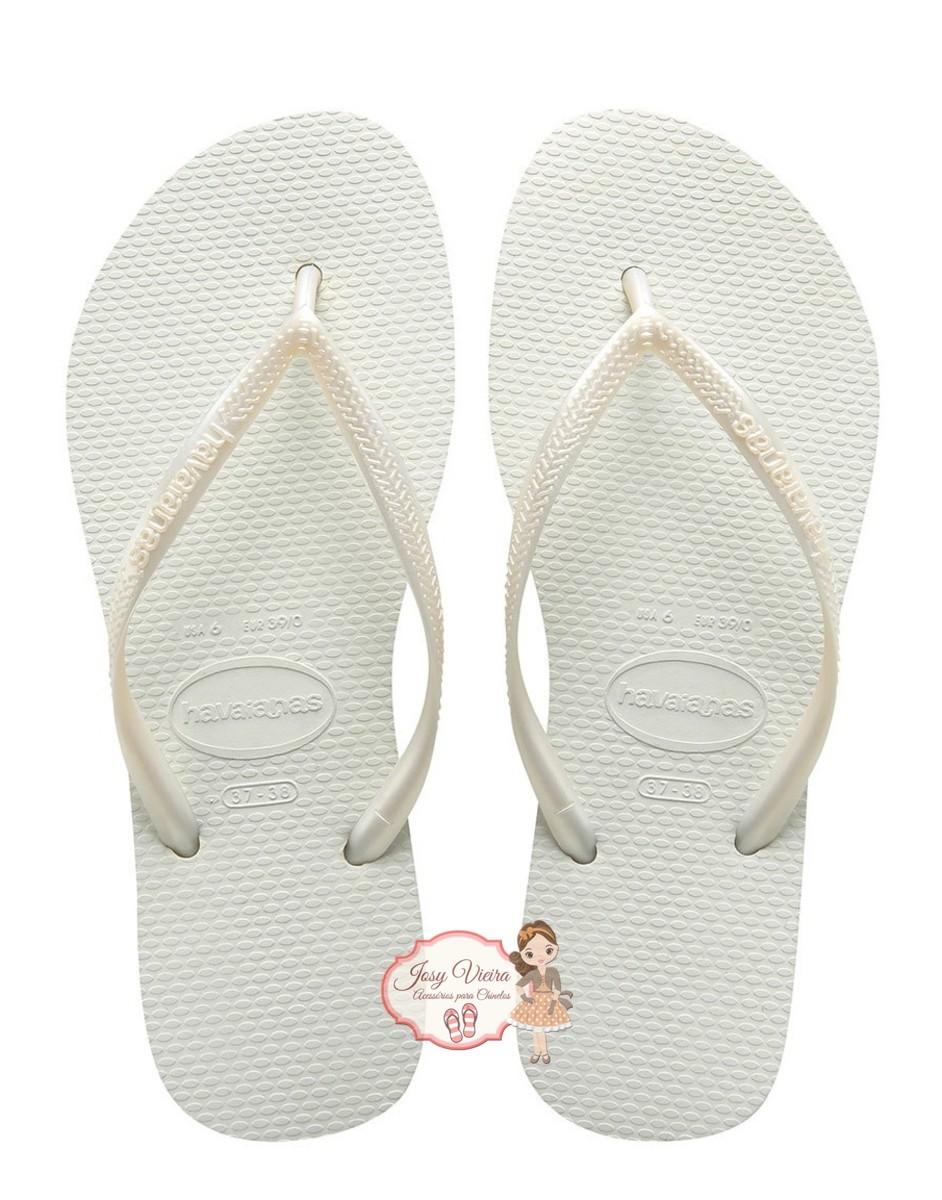Havaiana SLIM Branco 35/36