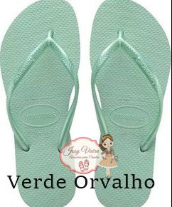 Havaiana SLIM Verde Orvalho 39/40