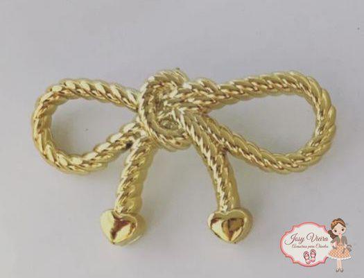 Laço ABS novo Dourado (par)