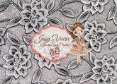 Lonita Prata com Flores Branca 24x40
