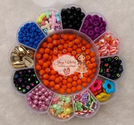 Maleta flor + 150g  materiais para pulseira
