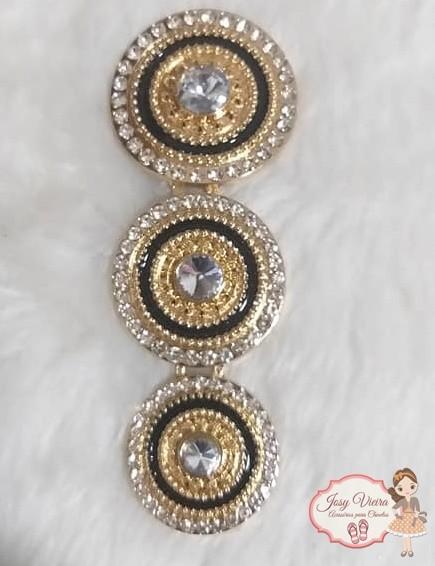 Mandala de Metal Dourado com Preto(Par)