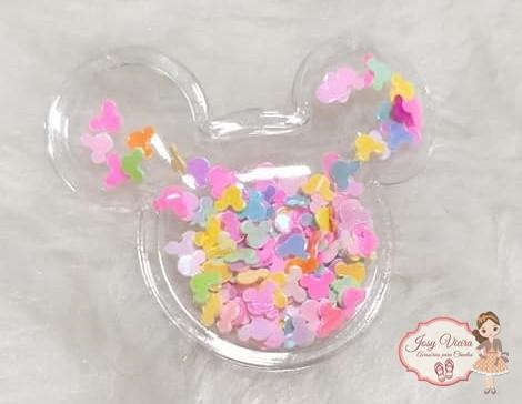 Mickey Transparente com mickey coloridos (1unidade)