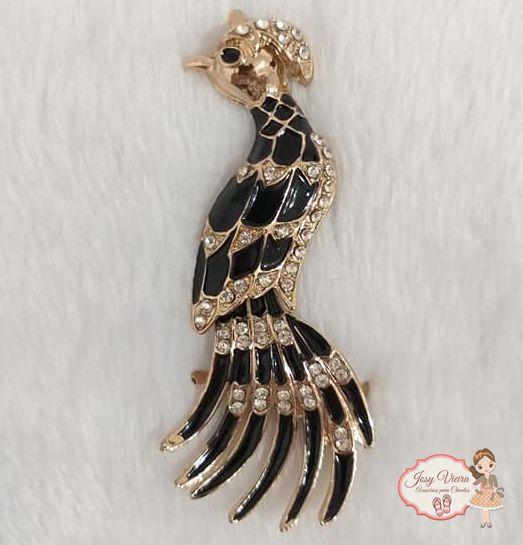 Pássaro Preto com Dourado