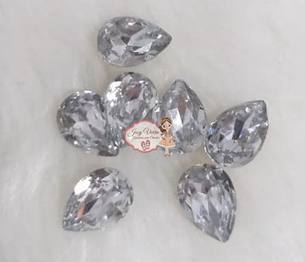 Pedra Resina Gota Cristal 10x14 (10 Unidades)
