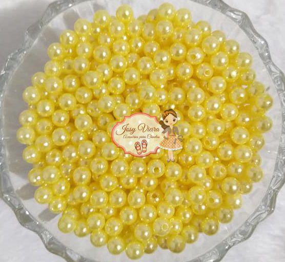 Perola ABS Tam 10 Amarelo 500g