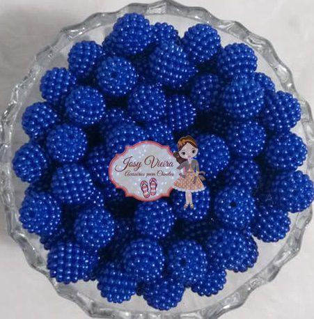 Pérola CRAQUELADA 500g Tam 12 Azul Escuro