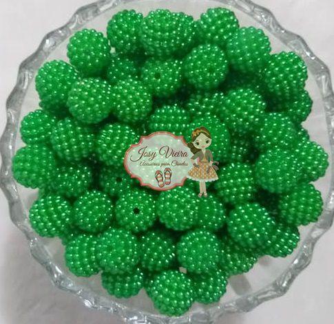Pérolas ABS CRAQUELADA TAM 10 Cor Verde 100g