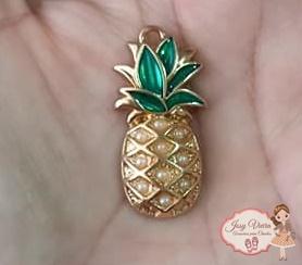 Pingente Abacaxi dourado (1 unidade)