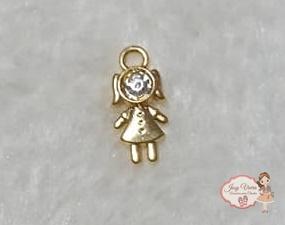 Pingente dourado menina(1 unidade)